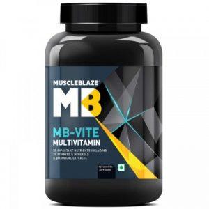 BEST MULTIVITAMINS IN INDIA (2020) Muscleblaze Mb-Vite Multivitamin Supplement (120 Tablets)